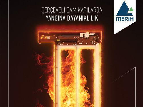 Merih Asansör'den Yangına Dayanıklı Cam Panelli Kat Kapısı