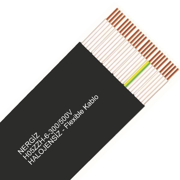 NERGİZ H05ZZH-6-300/500V-HALOJENSİZ - 16x1 Flexible Kablo